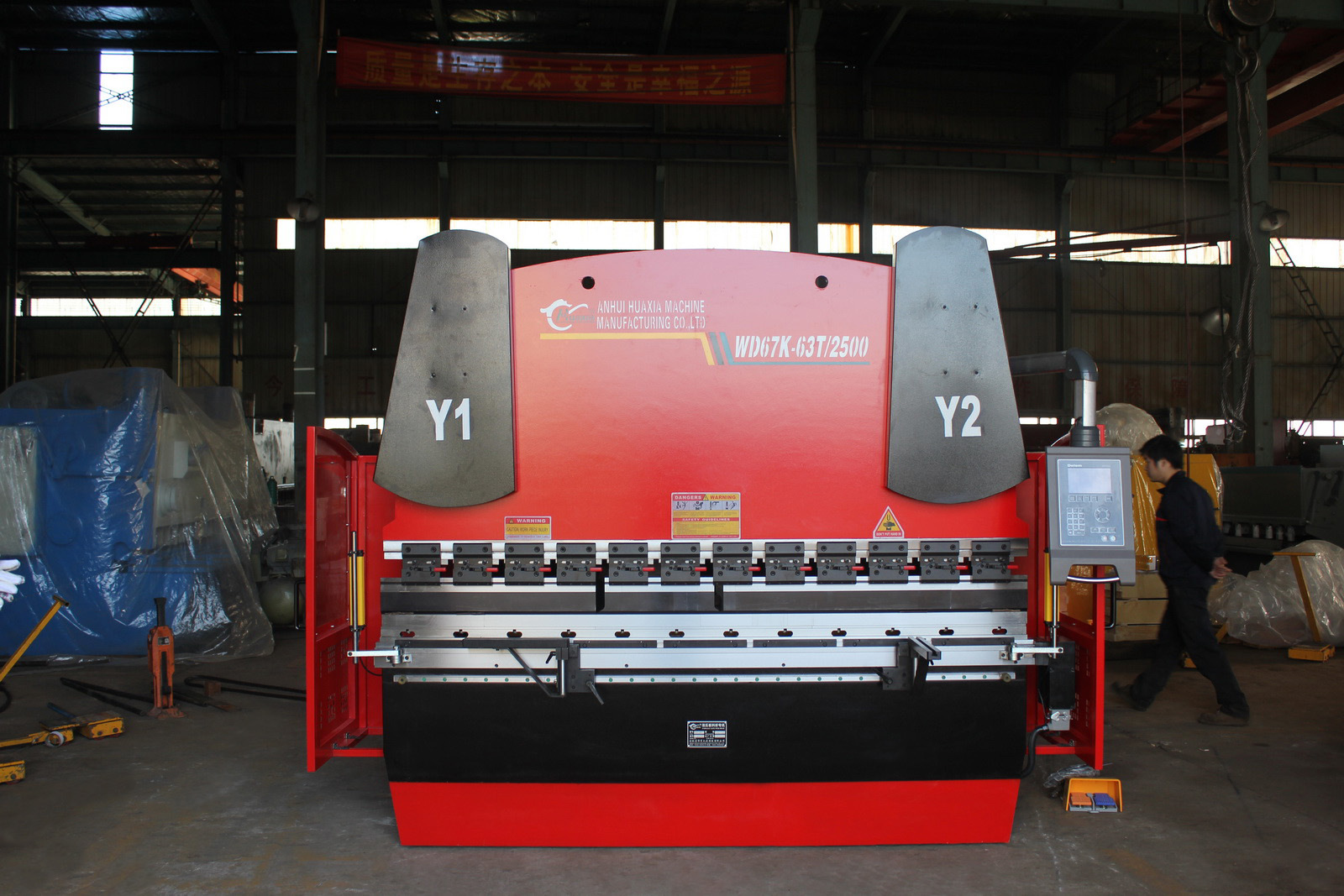 Wd67k 63t/2500 Electrohydraulic Servo Press Brake, Bending Machine with CNC Controller