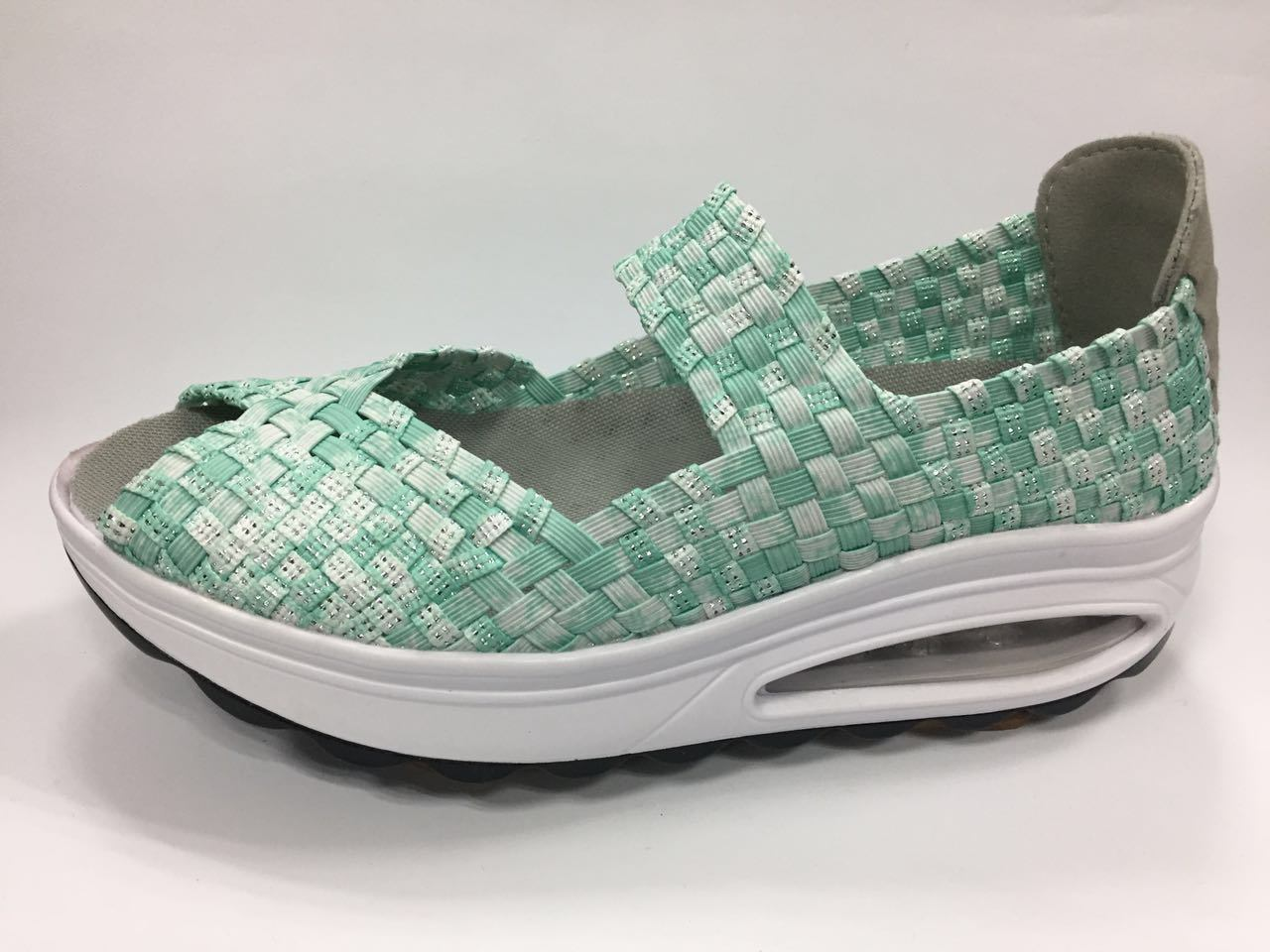 Colourful Woven Shoes for Woman High_Heel Shoes