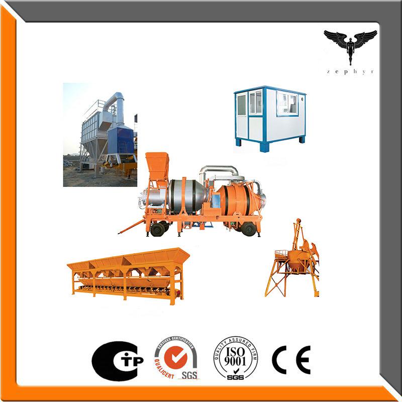 Capacity 8~30 Tph Double Drum Mobile Asphalt Mixing Plant