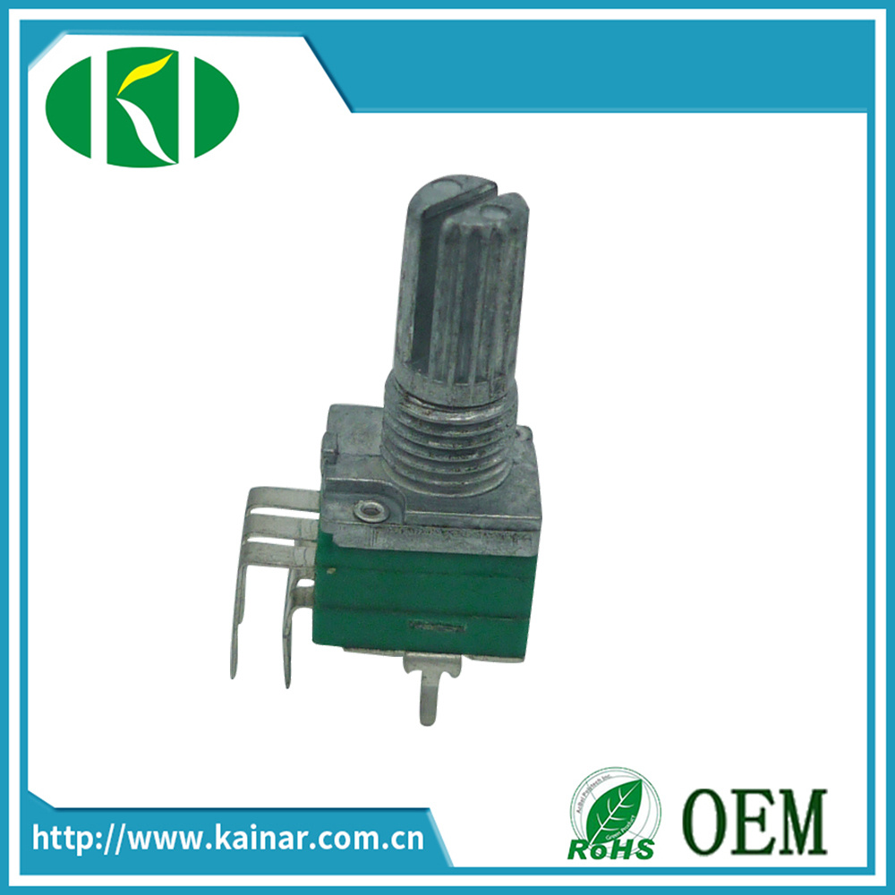 9mm  Size Metal Shaft Dual Gang Rotary Potentiometer Wh9011ak-2j