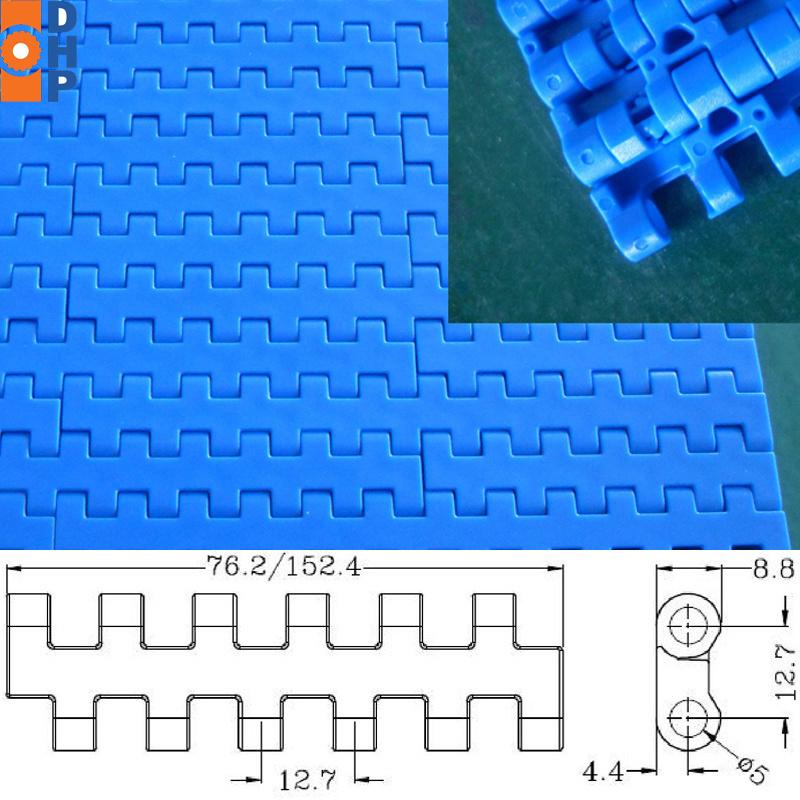 H 1270 Plastic Flat Top Modular Conveyor Belt