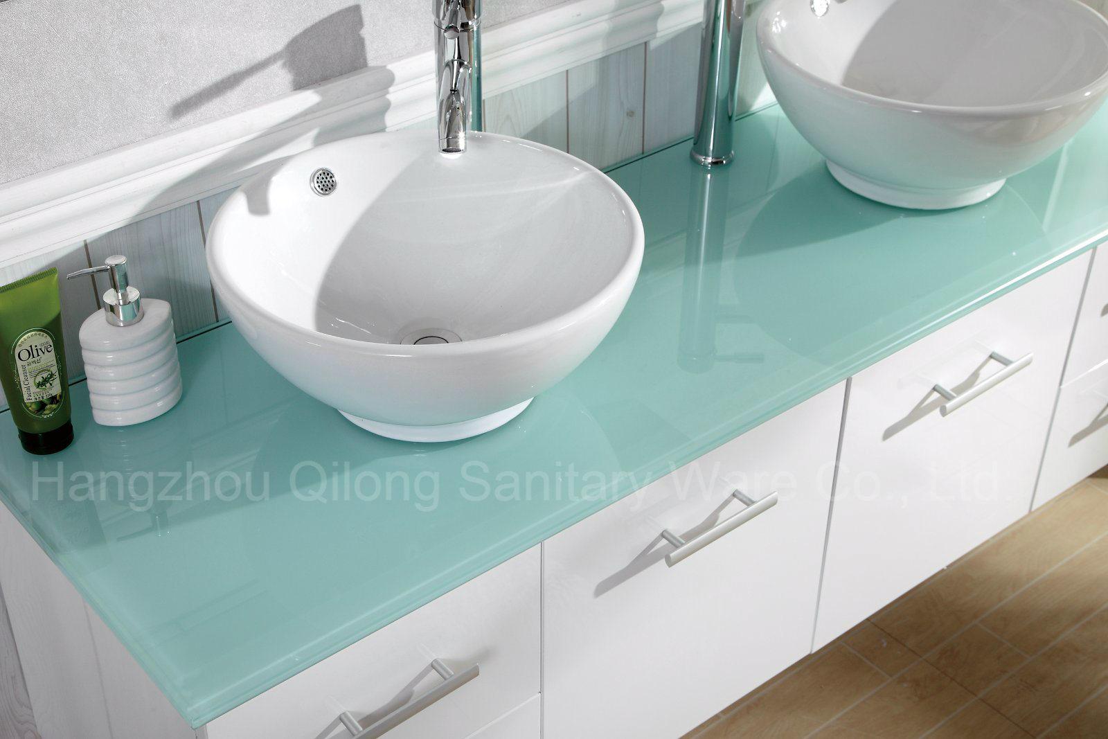 New Style MDF Bathroom Vanity with Ceramic Basin