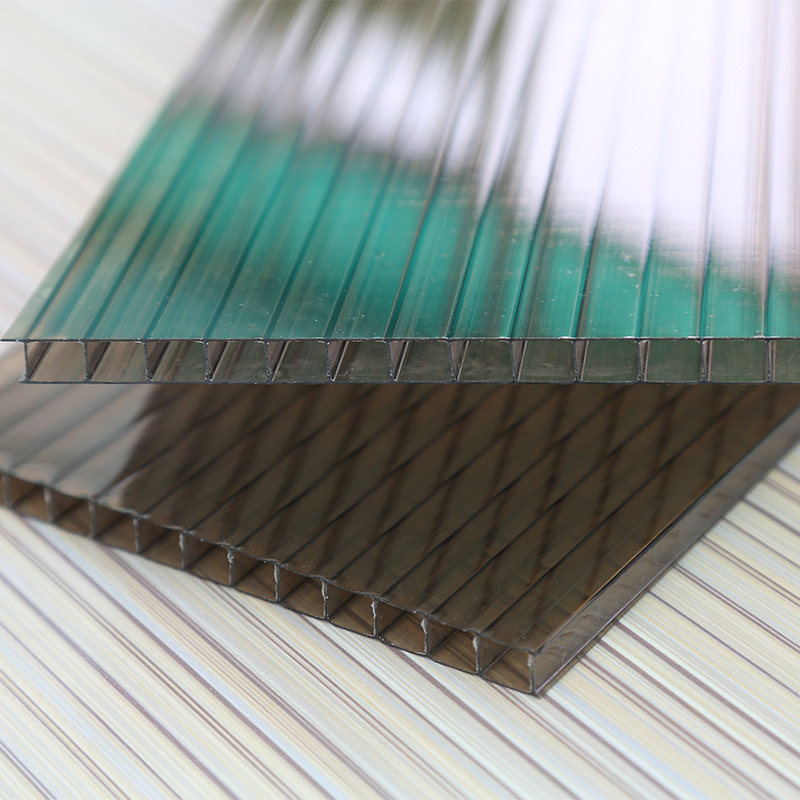 Fire Resistance Hollow Polycarbonate Sheet Twin Wall Sheet