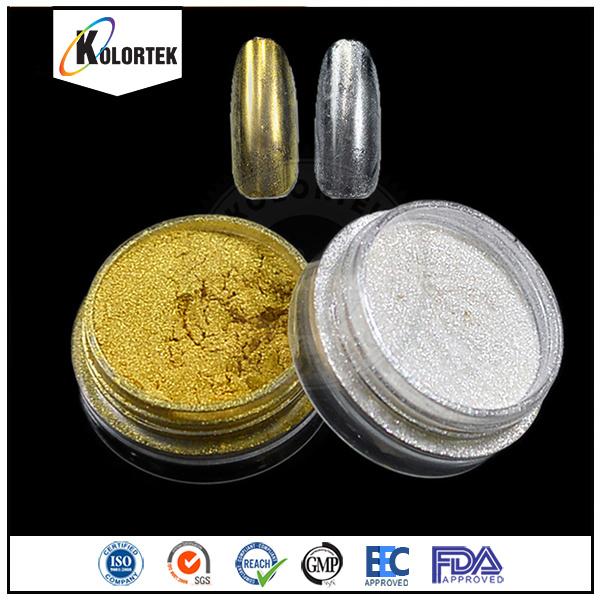 Chrome Mirror Silver Pigment, High Gloss Mirror Effect Nail Polish Pigment