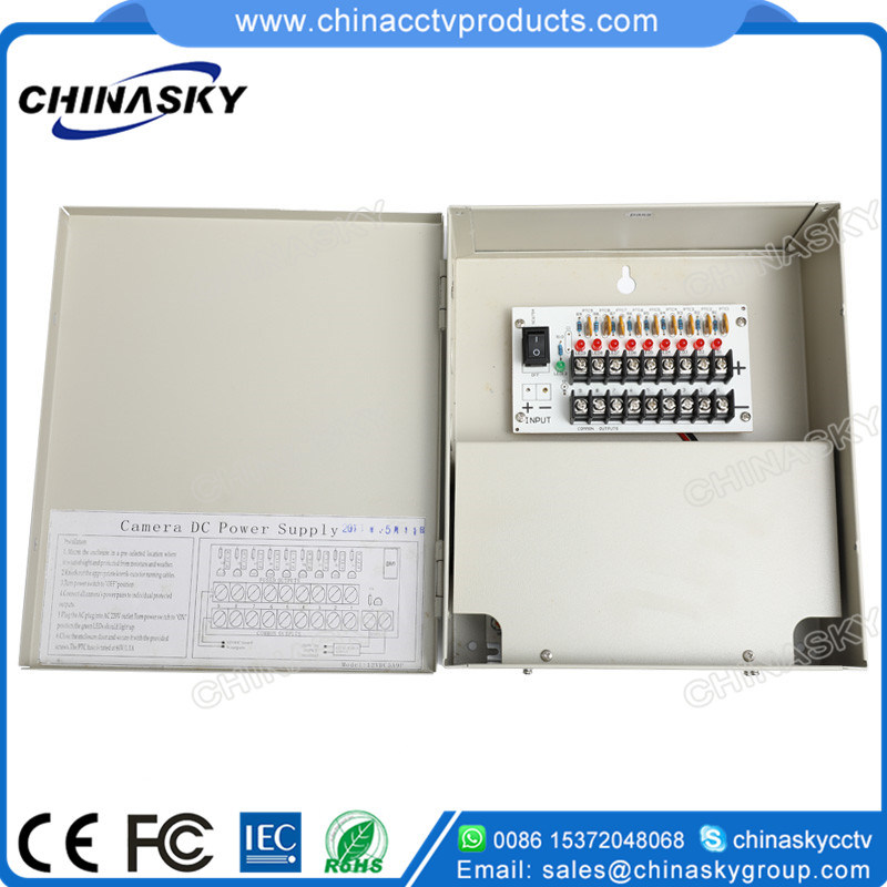 12VDC 5AMP 9 Channel Premium CCTV Power Supply Unit (12VDC5A9PN)