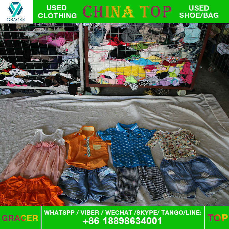 Provide High Quality Second Hand Clothes Children Summer Clothe in Bulk