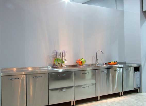China stainless steel kitchen cabinets for family and for Kitchen cabinets stainless steel