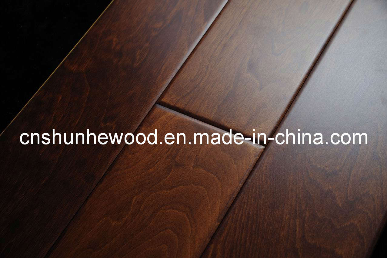 Very Impressive portraiture of Engineered Wood Flooring (SHF E Birch 07) China Wooden Flooring  with #2B1610 color and 1277x850 pixels