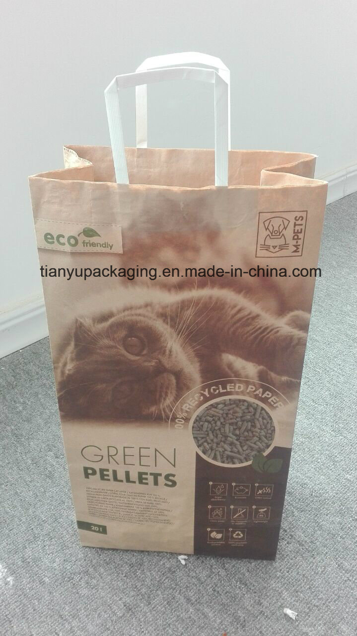 Kraft Packaging Paper Bag for Cat Litter