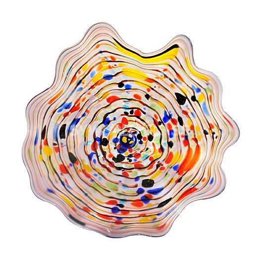 china hand blown glass wall art wall platters wall plates. Black Bedroom Furniture Sets. Home Design Ideas