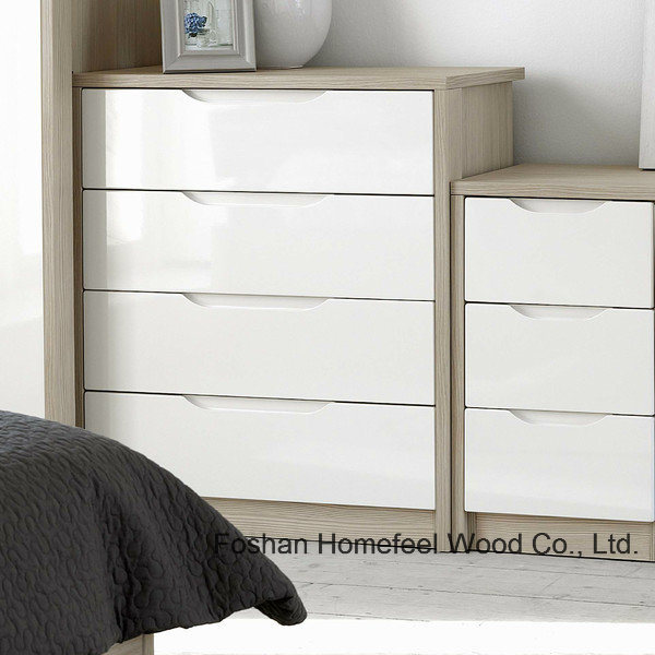 Fashion Simply Painting Bedroom 4 Drawer Chest Cabinet (HC30)