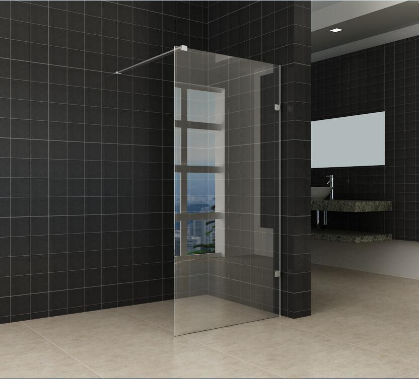 Easy Clean Complete Swing Bath Glass Shower Door Douchedeur