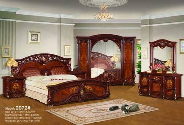 China classic bedroom set 2072 china classic bedroom for B q bedroom furniture sets