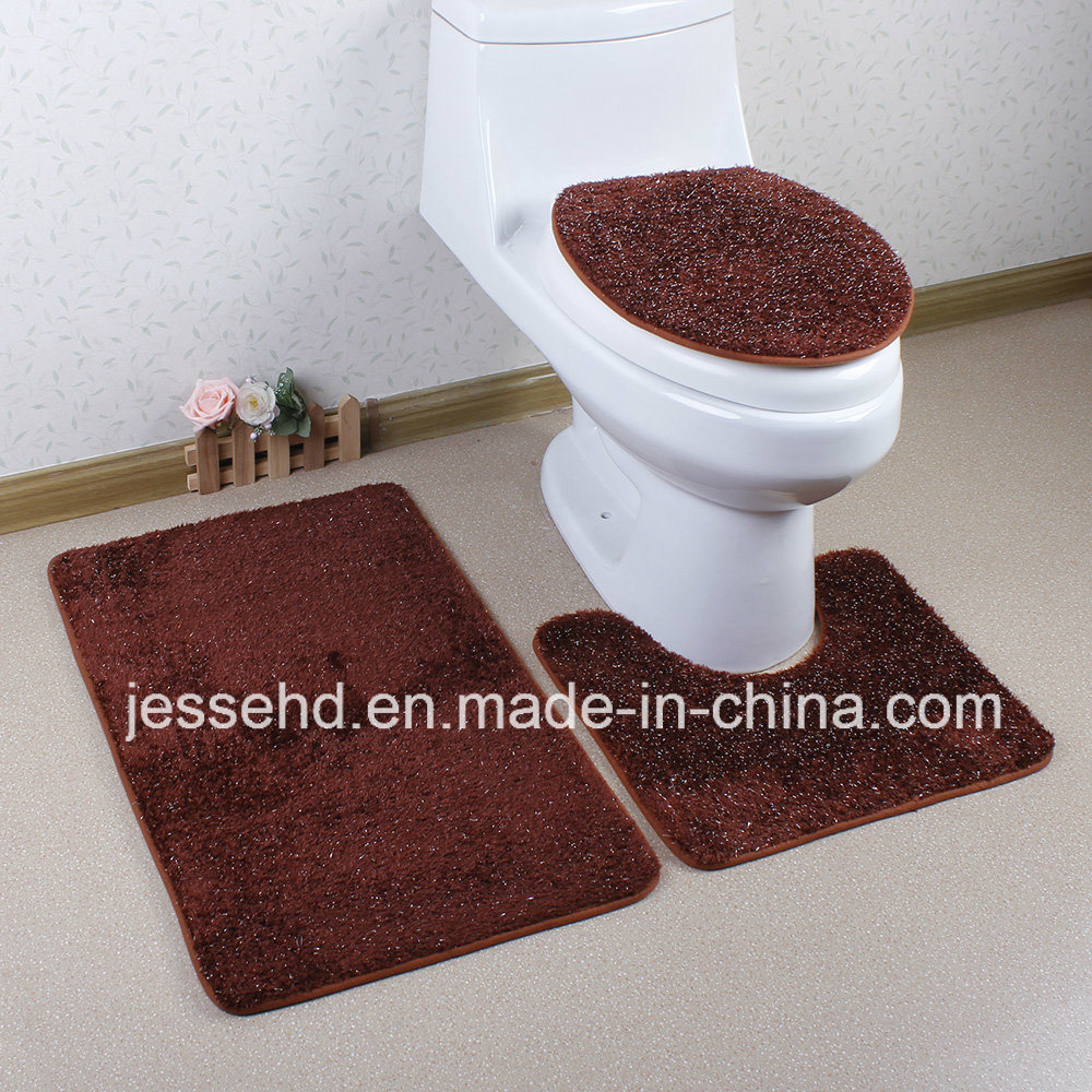 Washable Comfortale 3PCS Bathroom Set Soft Floor Carpet