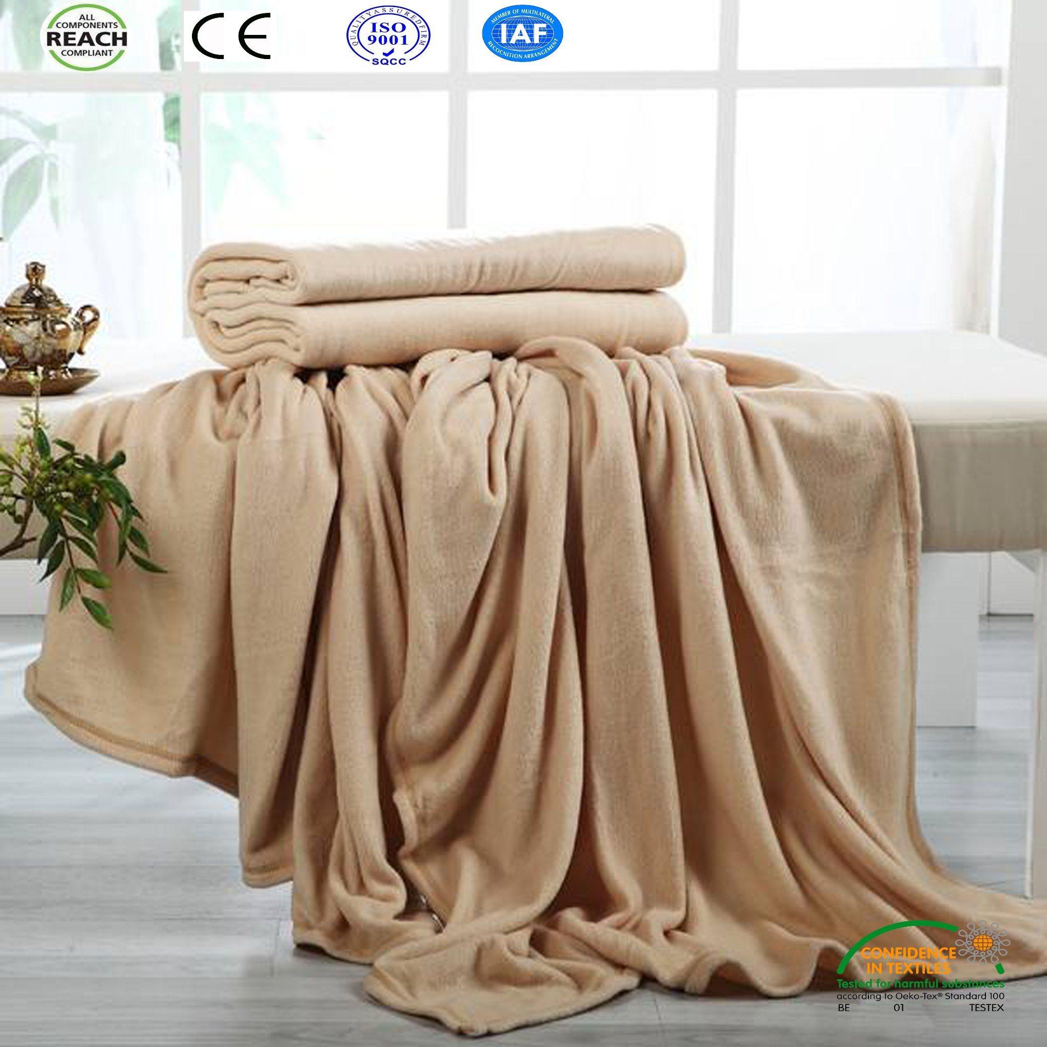 Camel Super Warm Coral Fleece Blanket (Bed Sheet Bed Cover Fleece Hometextile)