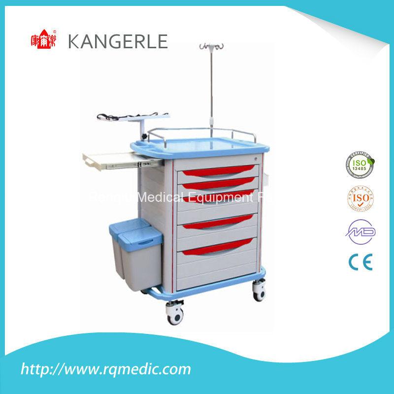 Ce/ISO ABS Crash Cart/Hospital Cart/Emergency Trolley