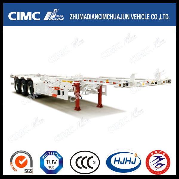 3 Axle 40FT Container Skeleton Skeletal Truck Tractor Semi Trailer