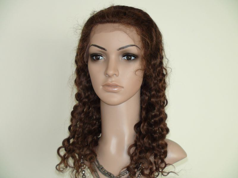 100% Brazilian Virgin Human Hair Full Lace Wigs