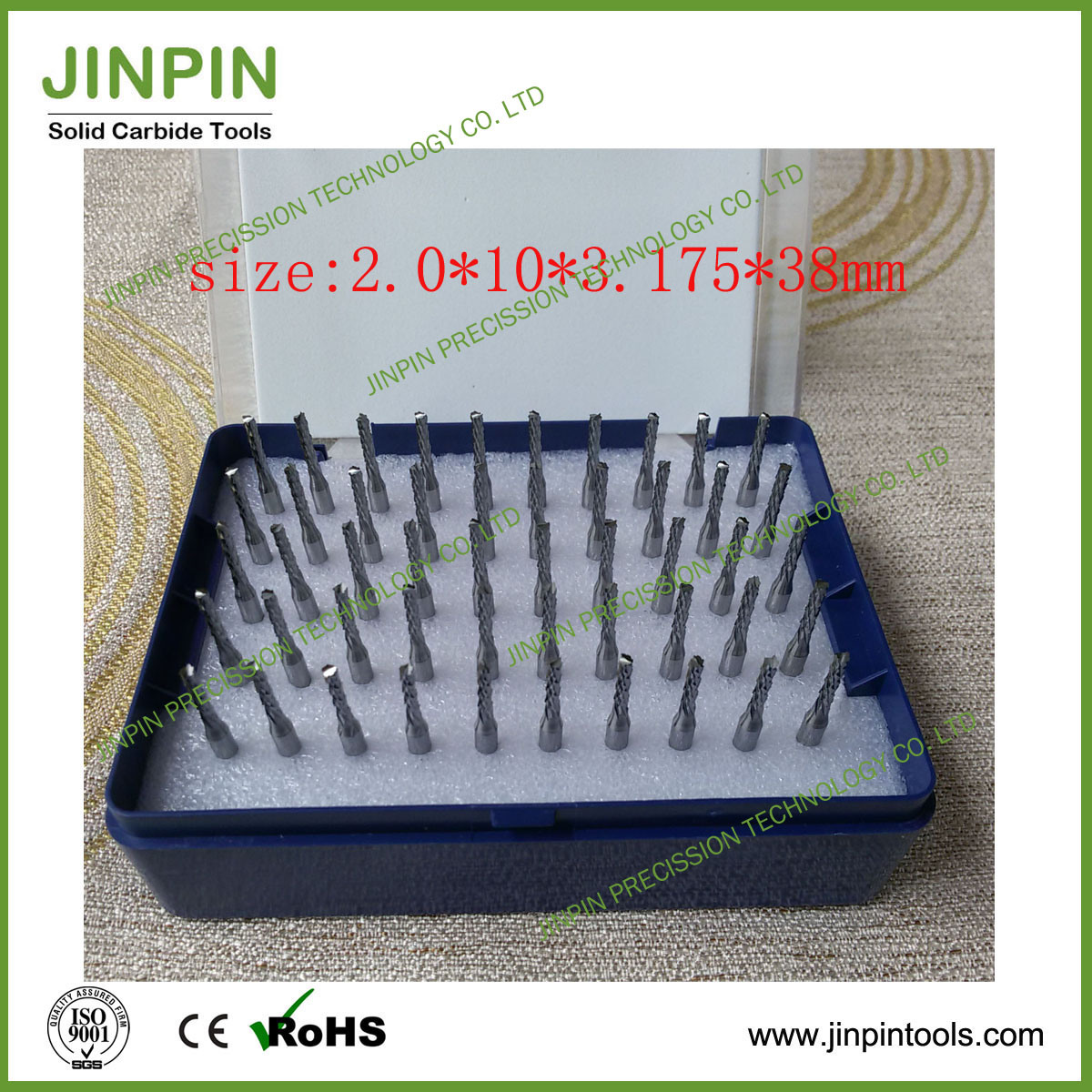 Size 2.0mm Solid Carbide Router Bits in Stock
