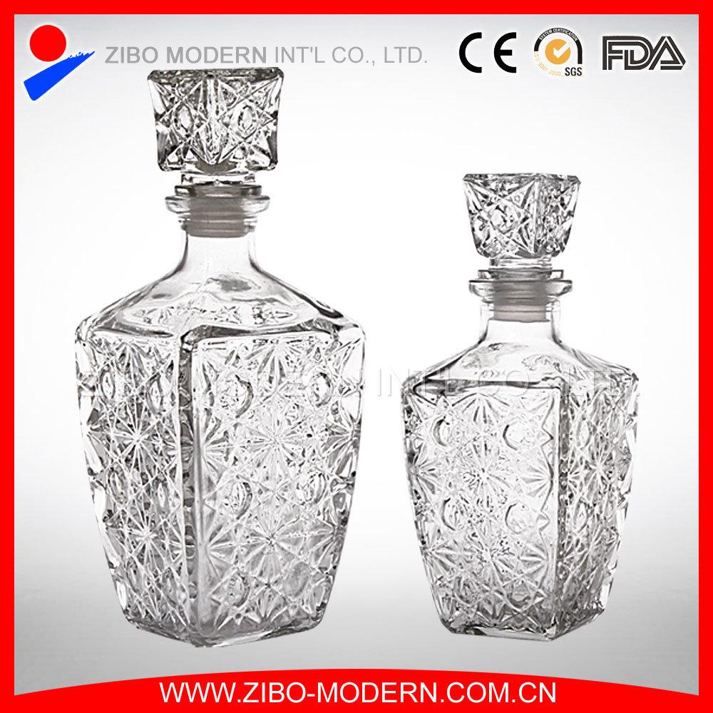 Wholesale Customized Design Fancy Glass Wine Bottles
