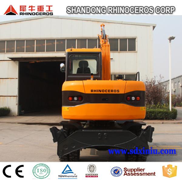 New Condition Moving Type Mini Wheel Excavator 8ton Wheel Excavator with Japanese Engine