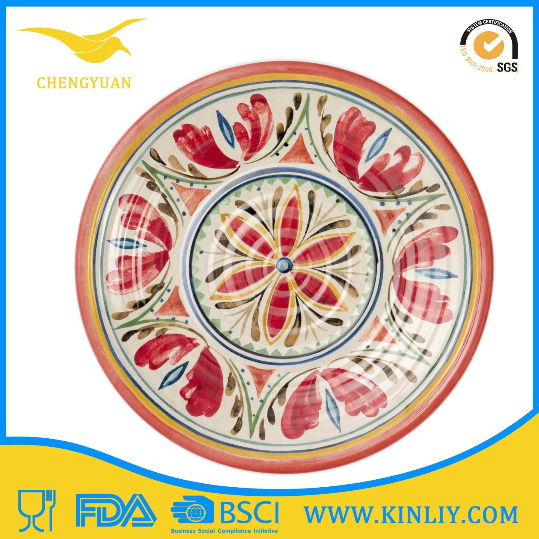 Special Design BPA-Free Melamine Dinnerware Dinner Plate with Cheap
