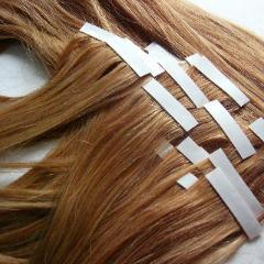 Flat Tape Hair Extensions with 100 % Human Hair Virgin Hair