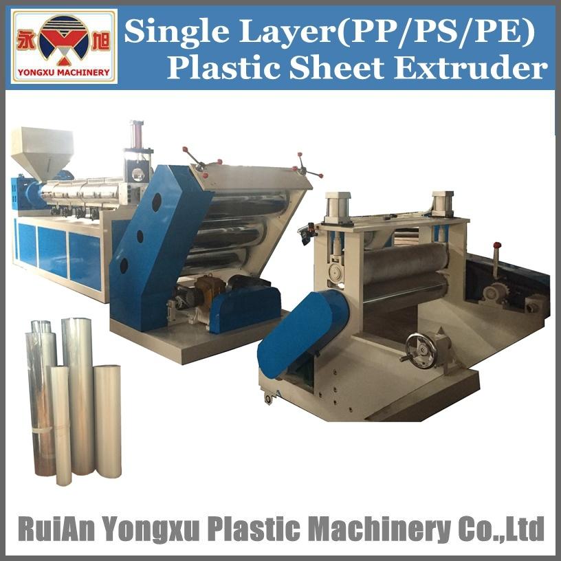 Single Screw One Layer Plastic Sheet Extruder Machine, Plastic Sheet Extruding Machine, Plastic Sheet Extruder in Roll, Single Screw Plast Sheet Machine (YXPC)