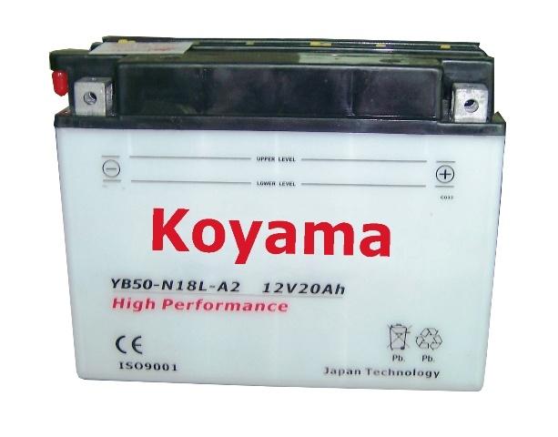 Heavy Duty Dry Motorcycle Battery -Yb50-N18L-A2-12V20ah