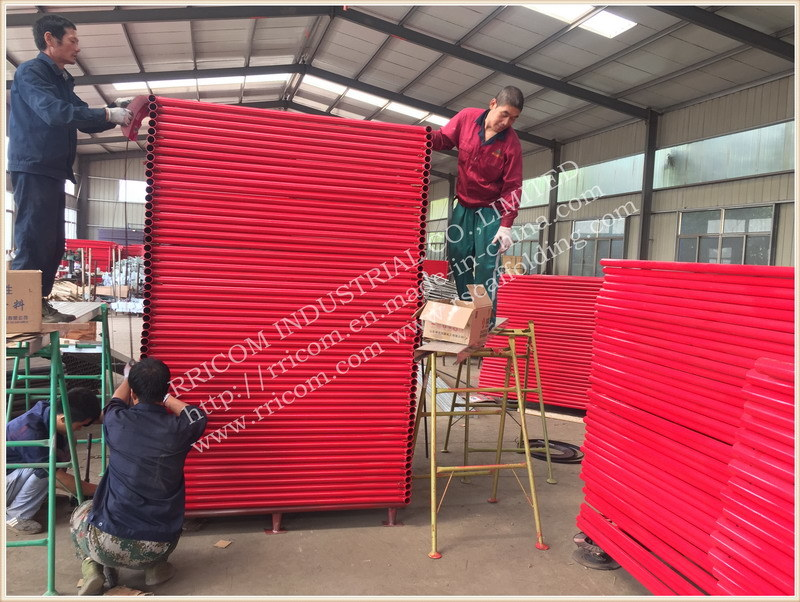 Powder Coated Ladder Scaffolding Frame, H Scaffolding Frame