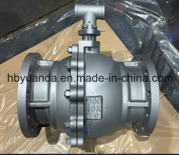 JIS 10K Cast iron 2 PC full bore ball Valve Q41F-10K