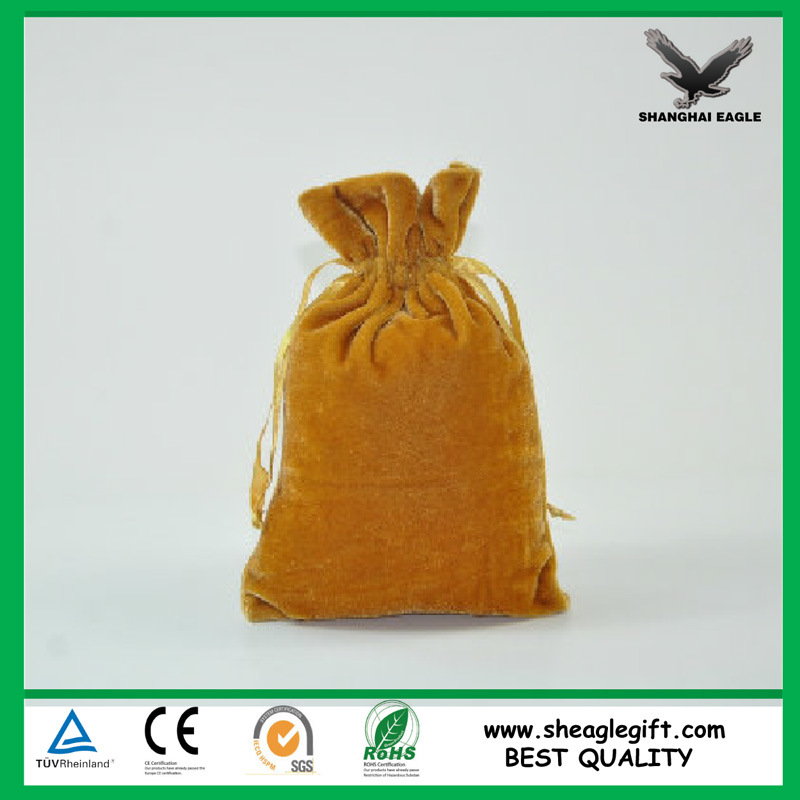 Custom Jewel Packaging Man Made Suede Bag Shanghai Factory Supply