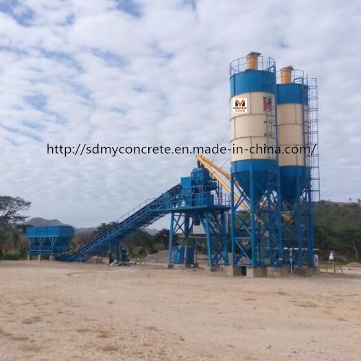90m3/H Siemens PLC Control Concrete Batching Plant / Concrete Mixing Plant