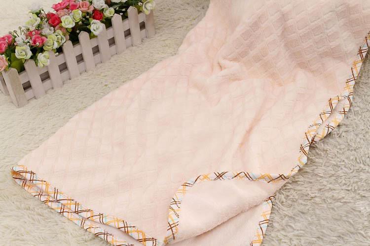 Solid Coral Fleece Baby Blanket