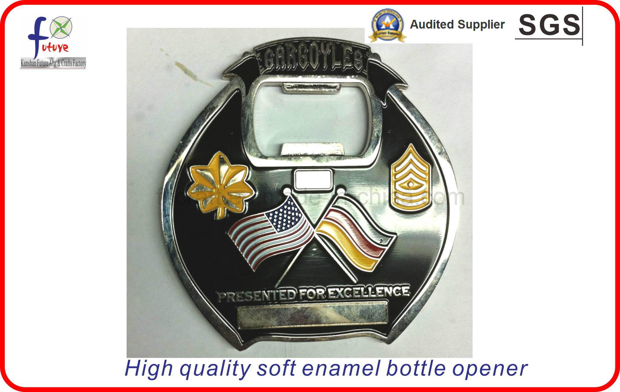 High Quality Soft Emamel Custom Badges Bottle Openers