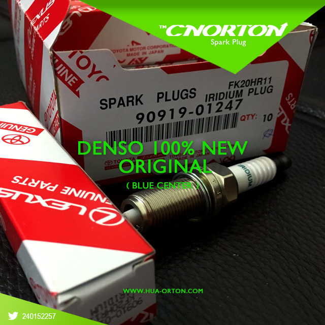 100% Original Blue Denso Hight Quality Spark Plug for Fk20hr11 Toyota 90919-01247