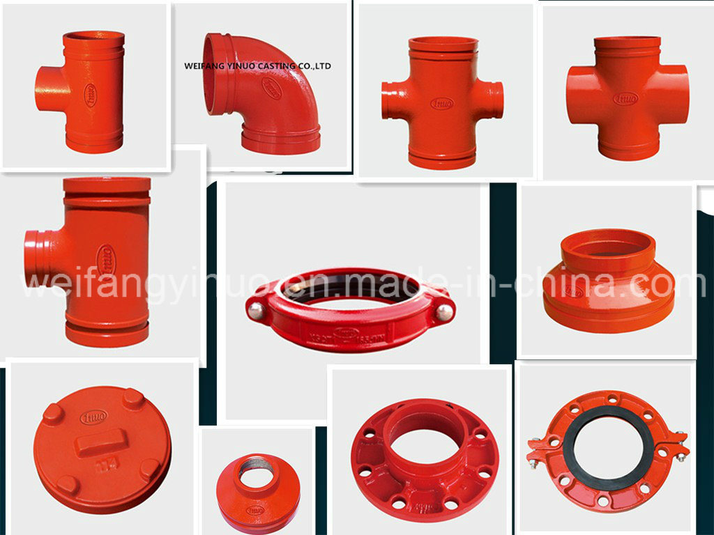FM UL Approved Ductile Iron Grooved Rigid Coupling