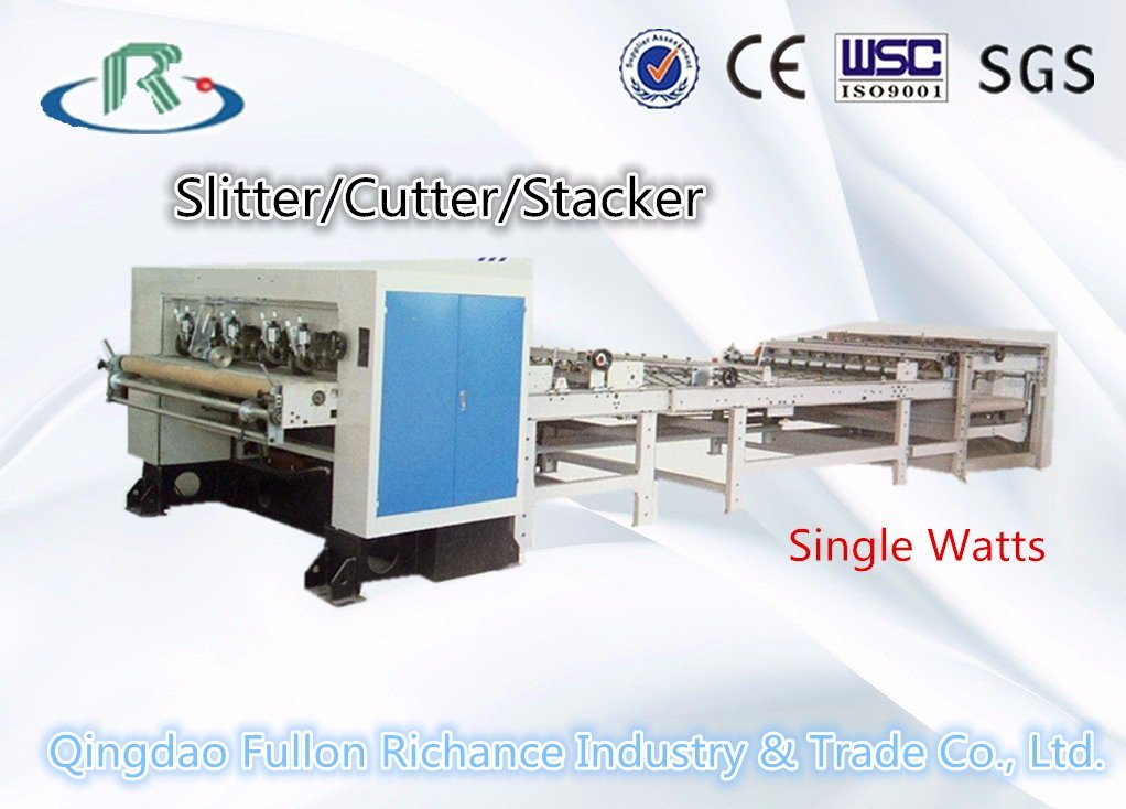 Single Face Paper Nc Slitter & Nc Cutter & Stacking Machine