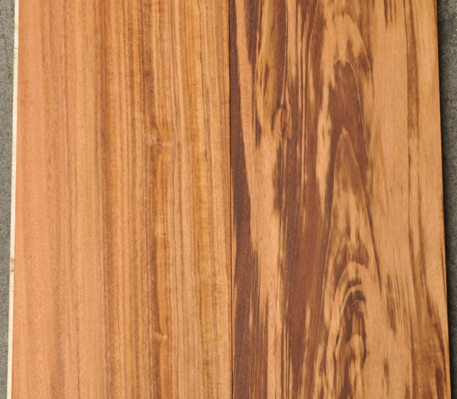 China high quality tigerwood engineered prefinished solid for Hardwood floors quality