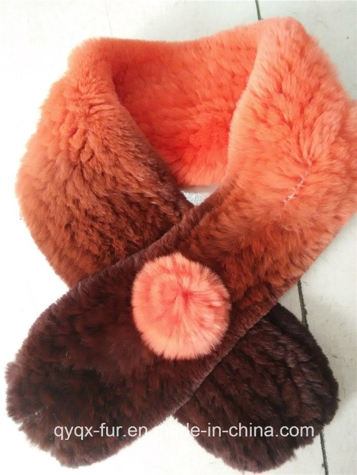 Hot Selling Rex Rabbit Fur Scarf /Shawl with Cheap Price