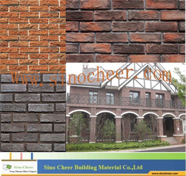 Brick antiguo stone tile para outside wall brick antiguo for Azulejos pared exterior