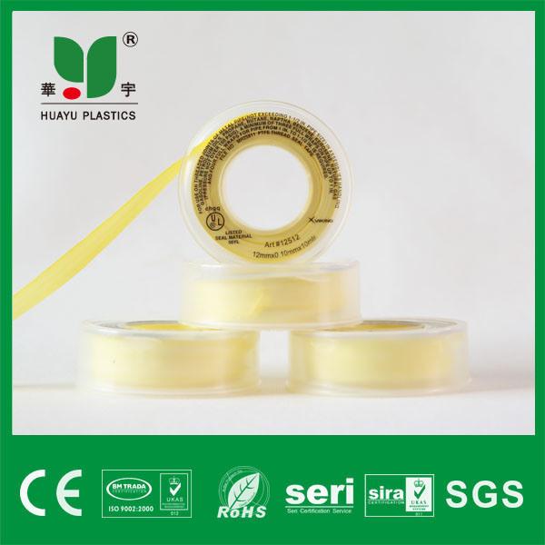 High Quality Teflon Tape Yellow 100% PTFE Thread Seal Tape