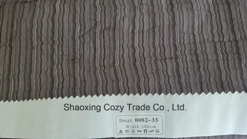 New Popular Project Stripe Organza Sheer Curtain Fabric 008233