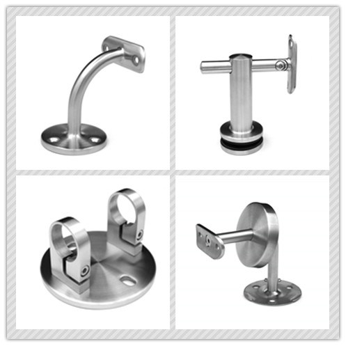 Round Pipe Staircase Fitting / Stainless Steel Handrail Post Base Plate