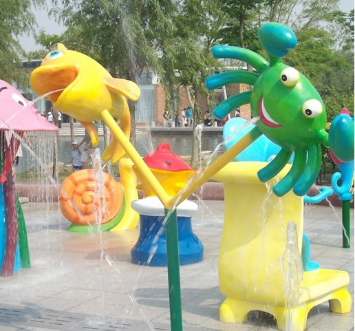 Inflatable Water Slides Naples Fl: China Kids Water Park-Fish And Crab Fountain (XS28