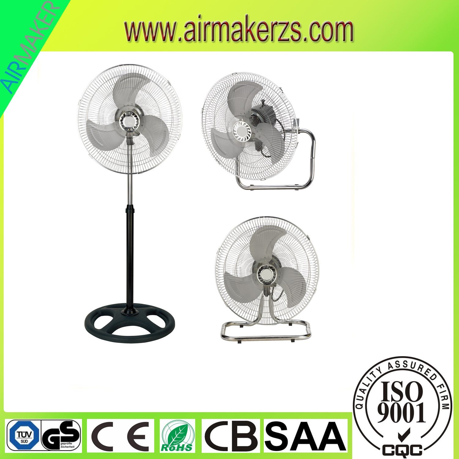 18 Inch Hot Selling Electric Industrial Fan 3 in 1 Stand Fan/Wall Fan/Floor Fan