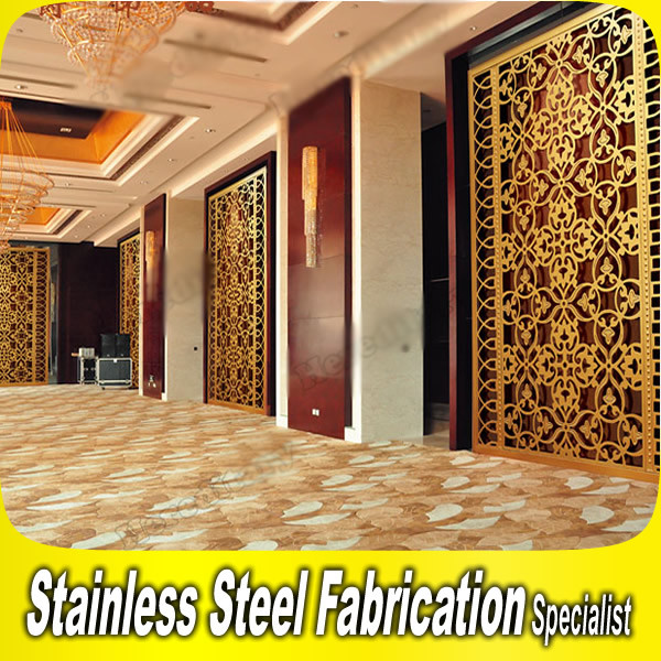 Laser Cut Decorative Stainless Steel Room Divider Screen