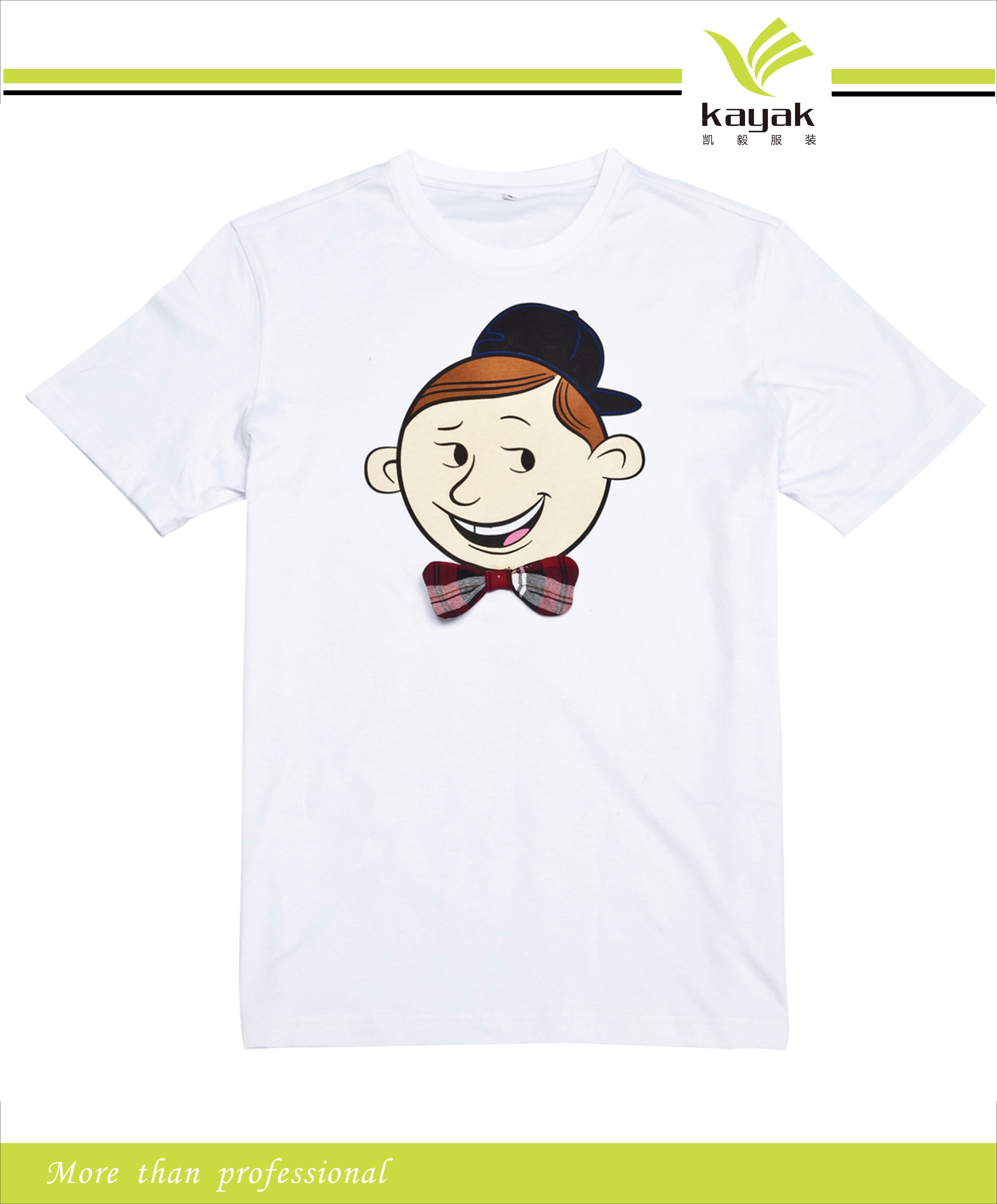 China custom t shirt with front embriodery and back for Custom photo t shirts front and back
