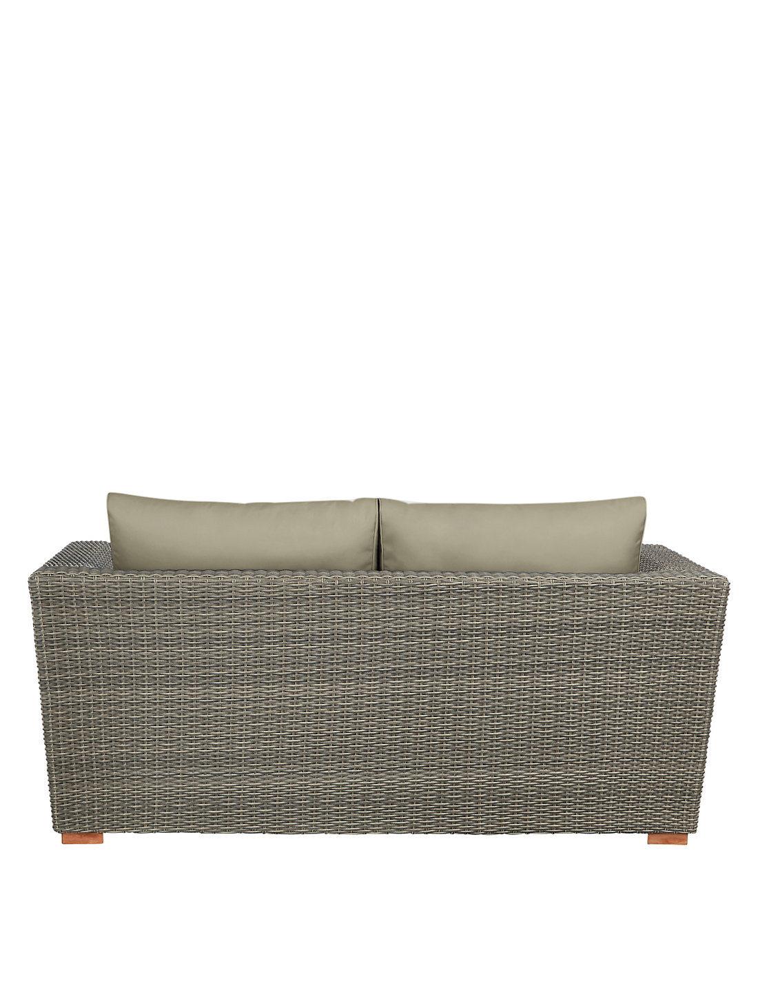 Well Furnir T-041 Grey Color Rattan Sofa with Waterproof Cushion