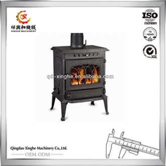 2017 Popular Style Wood Stove Cast Iron Wood Burning Stove